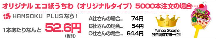 オリジナル エコ紙うちわ【オリジナルタイプ】